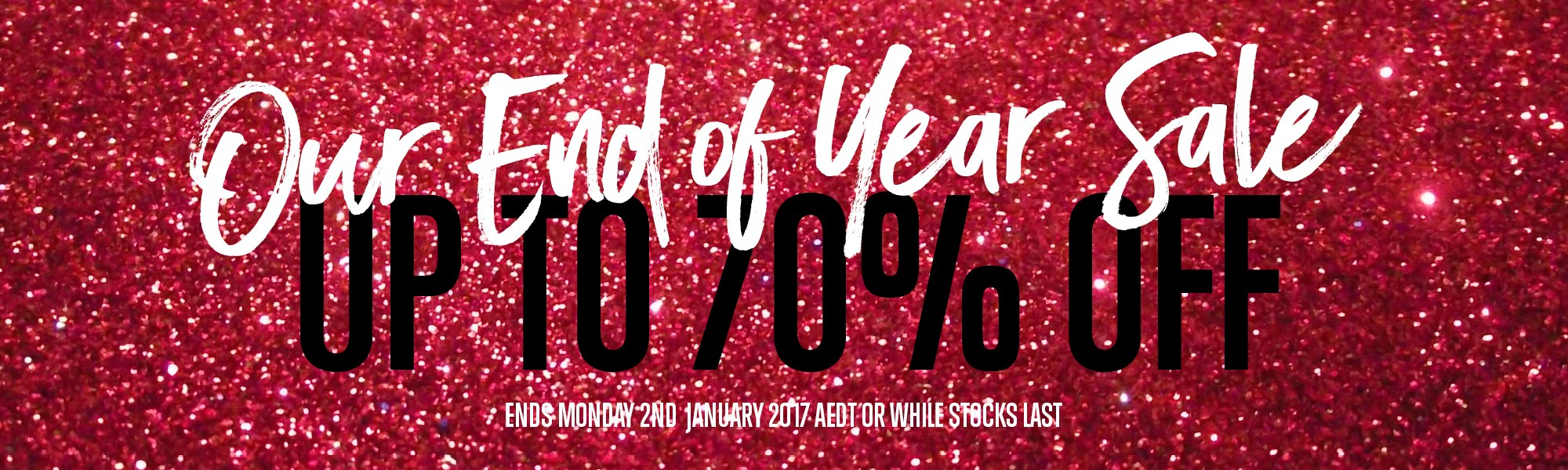 Outlet End of Year sale