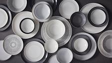 ED Ellen DeGeneres collection - Plate 16cm Grey Accents Set of 4