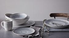 ED Ellen DeGeneres Crafted by Royal Doulton  Platter 32cm Charcoal Grey Lines