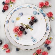 Alpha Foodie Teacup, Saucer & Plate Set Pink
