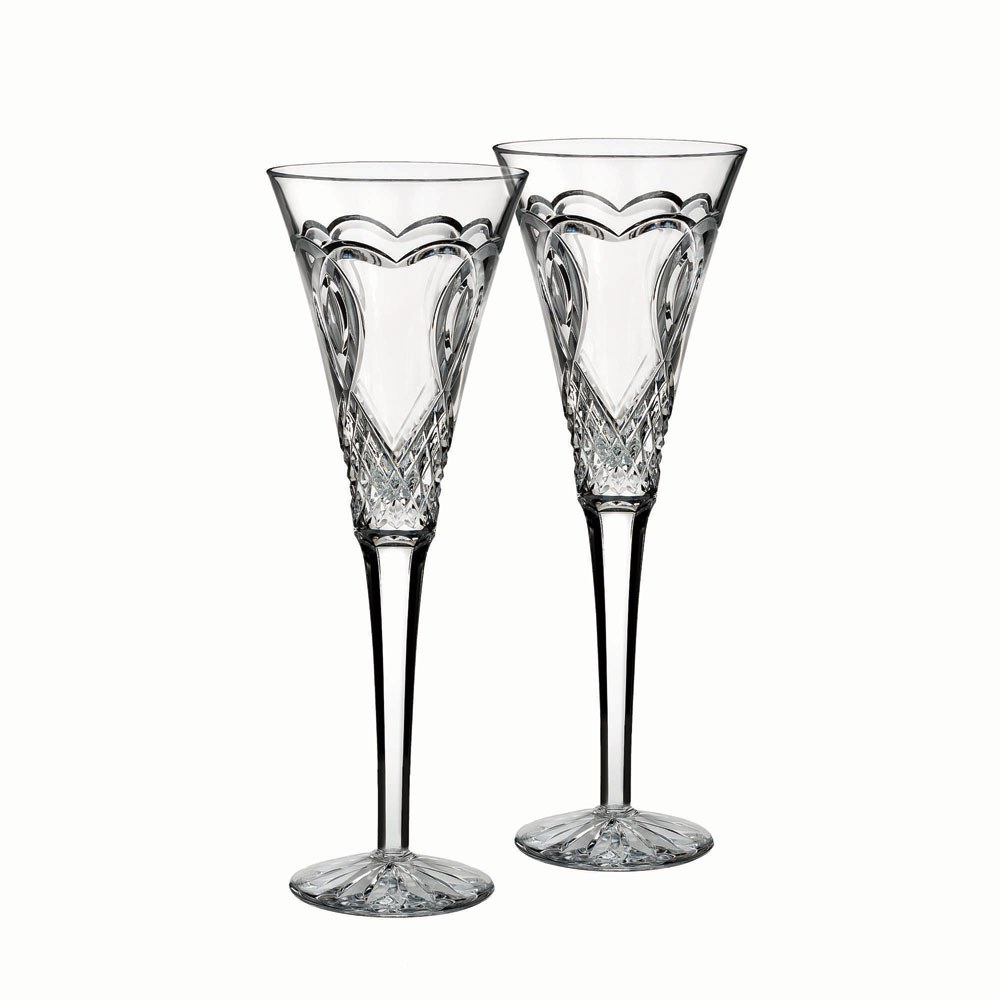 Waterford Wedding Collection Toasting Flute Pair