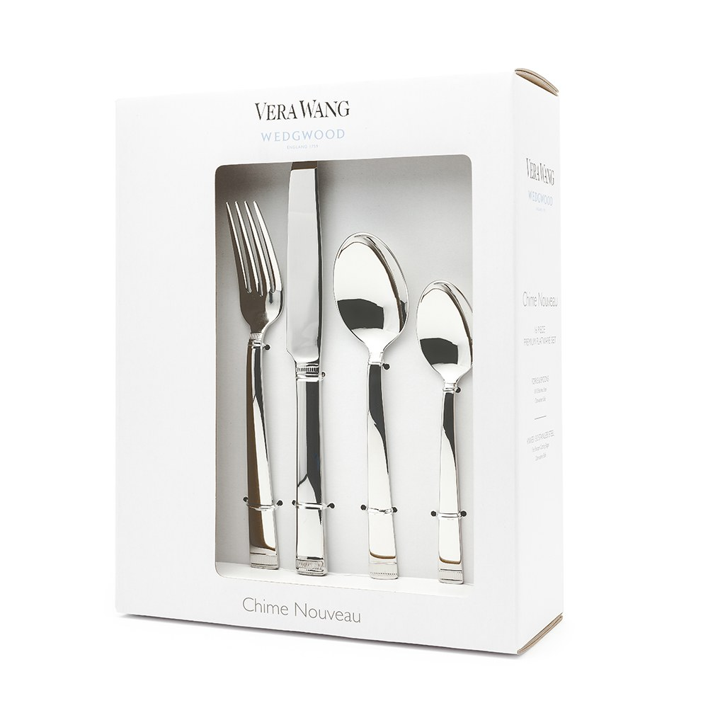 Vera Wang Wedgwood Chime Nouveau 16 Piece Cutlery Set