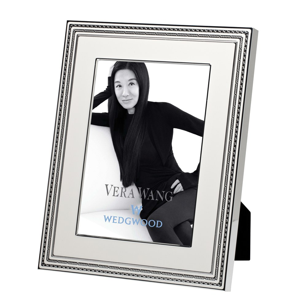 Vera Wang Wedgwood With Love Blanc Silver Giftware Frame 8\