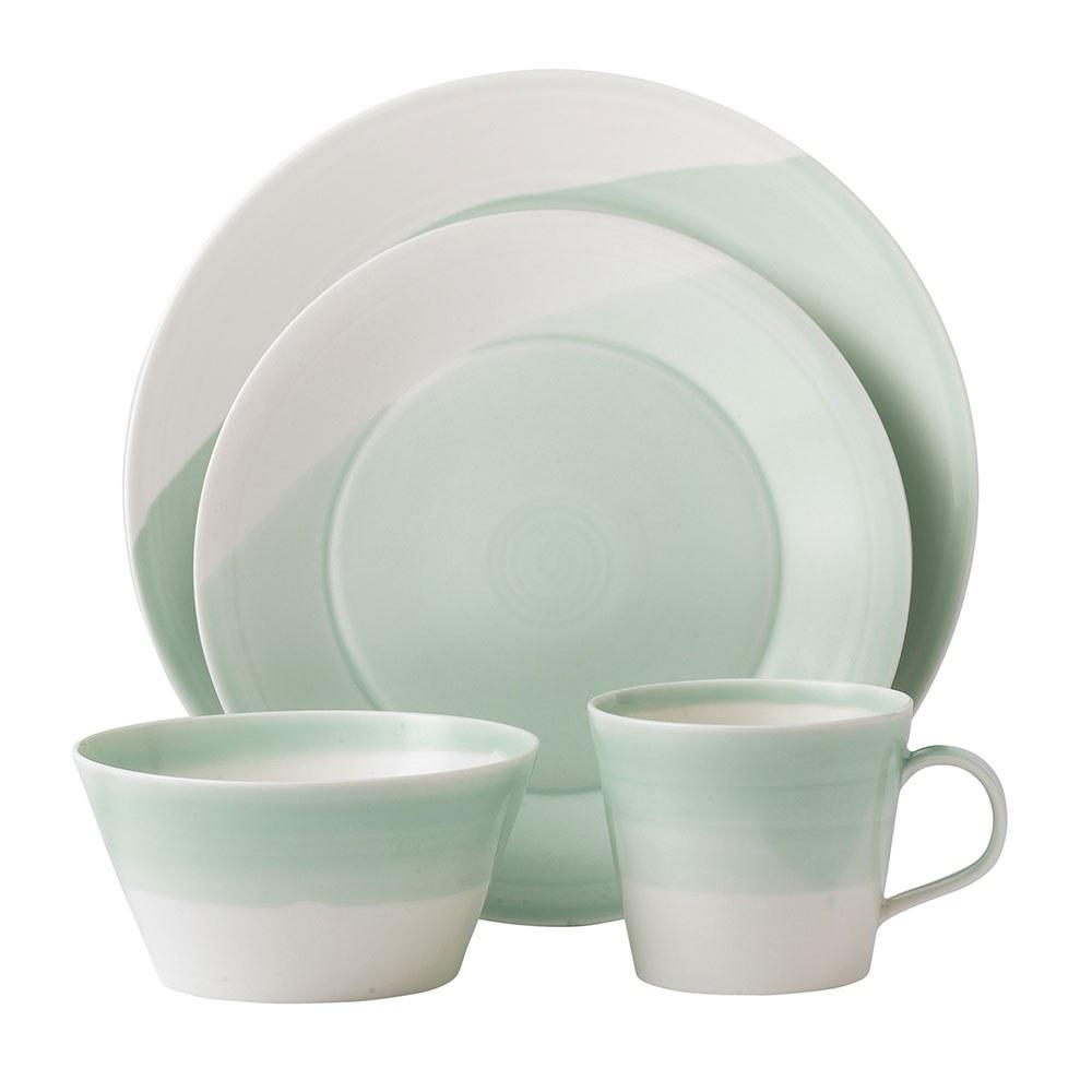 contemporary dinner sets  plates royal doulton outlet  royal  - royal doulton  green  piece set