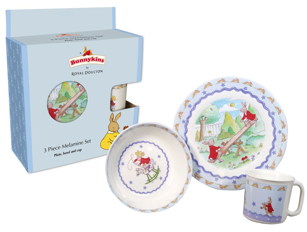 Royal Doulton Bunnykins Melamine 3 Piece Set (Star)  sc 1 st  Royal Doulton Outlet & Royal Doulton Bunnykins Melamine 3 Piece Set (Star) - Royal Doulton ...