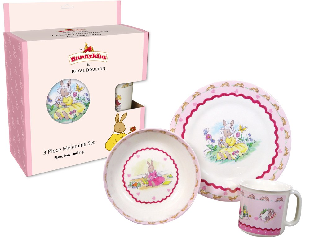 Royal Doulton Bunnykins Melamine 3 Piece Set (Heart)  sc 1 st  Royal Doulton Outlet & Royal Doulton Bunnykins Melamine 3 Piece Set (Heart) - Royal Doulton ...