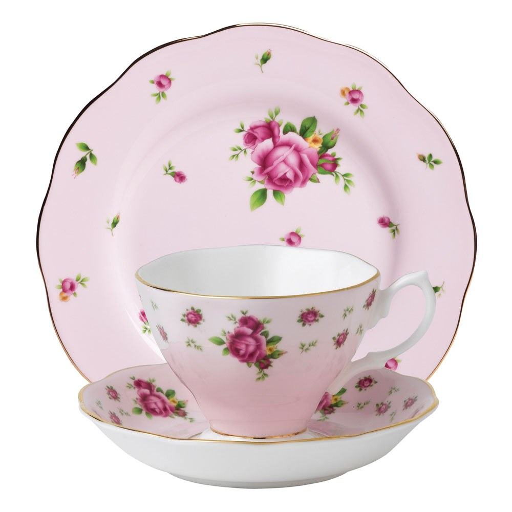 Royal Albert New Country Roses Pink Teacup Saucer Plate