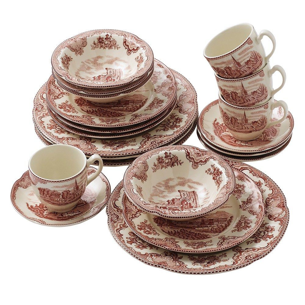 Johnson Brothers Old Britain Castles Pink Saucers