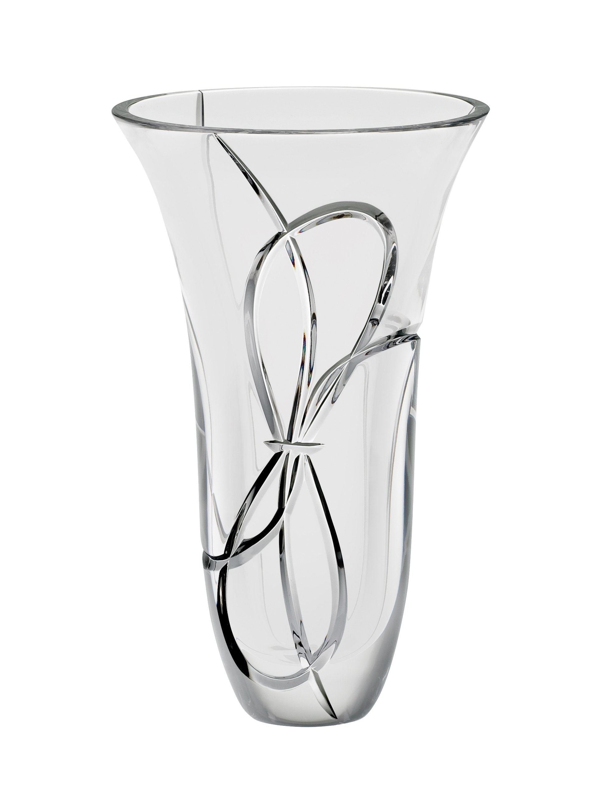 Vera Wang Wedgwood Love Knots Crystal Vase