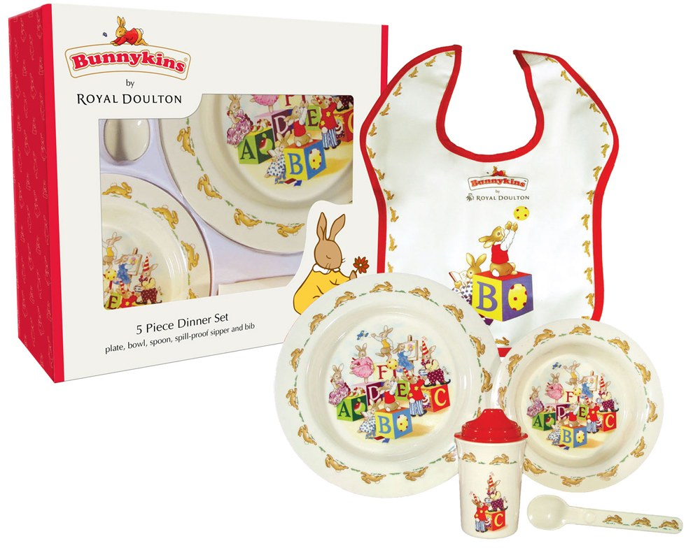 Royal Doulton Baby Gifts Australia : Royal doulton bunnykins melamine silver piece dinner set