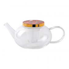 Paeonia Blush Glass Teapot