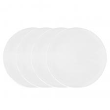Vera Wang Vera Perfect White Dinner Plate Set of 4