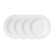 Vera Wang Vera Perfect White Rim Soup 22cm Set of 4