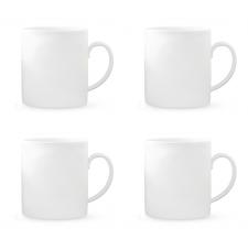 Vera Wang Vera Perfect White Mug 440ml Set of 4