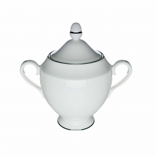 Wedgwood Signet Bone China Platinm Covered Sugar Bowl