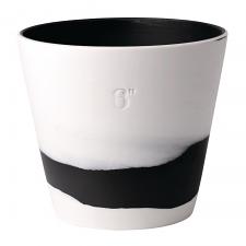 Wedgwood Burlington Pots Black on White Pot 6inch
