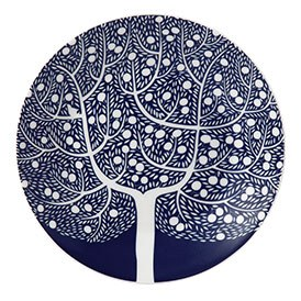 Royal Doulton Fable Accent Plate 16cm Blue Tree