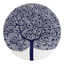 Royal Doulton Fable Accent Plate 22cm Blue Tree