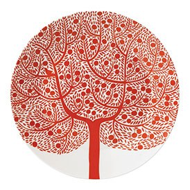 Royal Doulton Fable Accent Plate 22cm Red Tree
