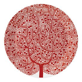 Royal Doulton Fable Accent Round Platter Red Tree 30cm