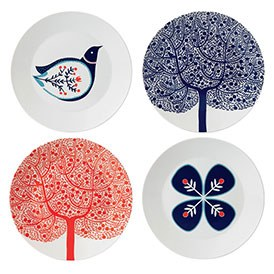 Royal Doulton Fable Set Of 4 Accent Plates 22cm