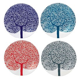 Royal Doulton Fable Accent Set of 4 Tree Plates 22cm