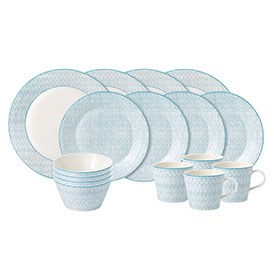 Royal Doulton Pastels 16 Piece Set Blue