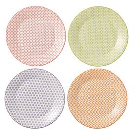 Royal Doulton Pastels Set of 4 23.5cm Plates