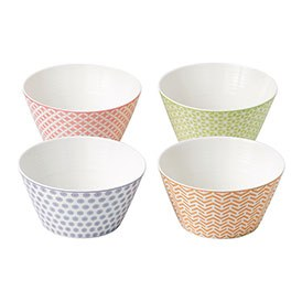 Royal Doulton Pastels Set of 4 15cm Cereal Bowls