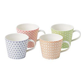 Royal Doulton Pastels Set of 4 Mugs