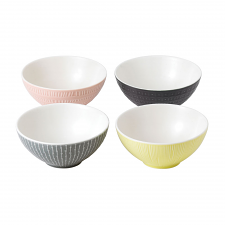 HemingwayDesign Set of 4 Mixed Cereal Bowls 16cm