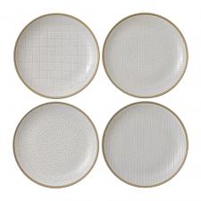Gordon Ramsay Maze Grill White Plate 22cm Mixed (Set of 4)