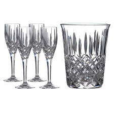 Champagne Set: Ice Bucket & 4 Flutes
