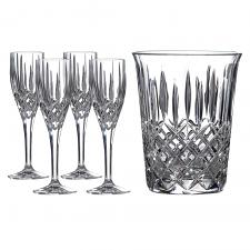 Champagne Set: Ice Bucket & 4 Flutes