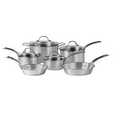Gordon Ramsay Brushed Stainless Steel 6 Piece Set