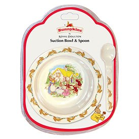 Royal Doulton Bunnykins Melamine Suction Bowl & Spoon Set (Swim)