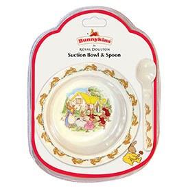 Royal Doulton Bunnykins Melamine Suction Bowl & Spoon Set (Swim)