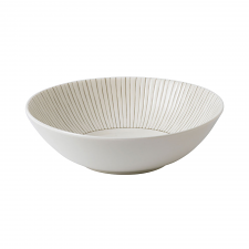 ED Ellen DeGeneres Crafted by Royal Doulton  Bowl 20cm Taupe Stripe