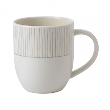 ED Ellen DeGeneres Crafted by Royal Doulton  Mug 430ml Taupe Stripe