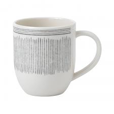 ED Ellen DeGeneres Crafted by Royal Doulton Mug 430ml Charcoal Grey Lines