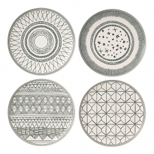 ED Ellen DeGeneres collection - Plate 21cm Grey Accents Set of 4