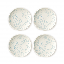 ED Ellen DeGeneres Polar Blue Accents - Plate 16cm Set of 4