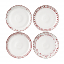 ED Ellen DeGeneres Christmas Plate 28cm Set of 4