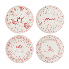 ED Ellen DeGeneres Christmas Plate 21cm Set of 4