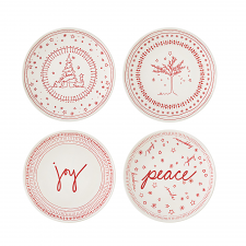 ED Ellen DeGeneres Christmas Plate 16cm Set of 4