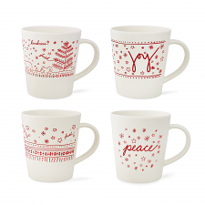 ED Ellen DeGeneres Christmas Mug 450ml Set of 4