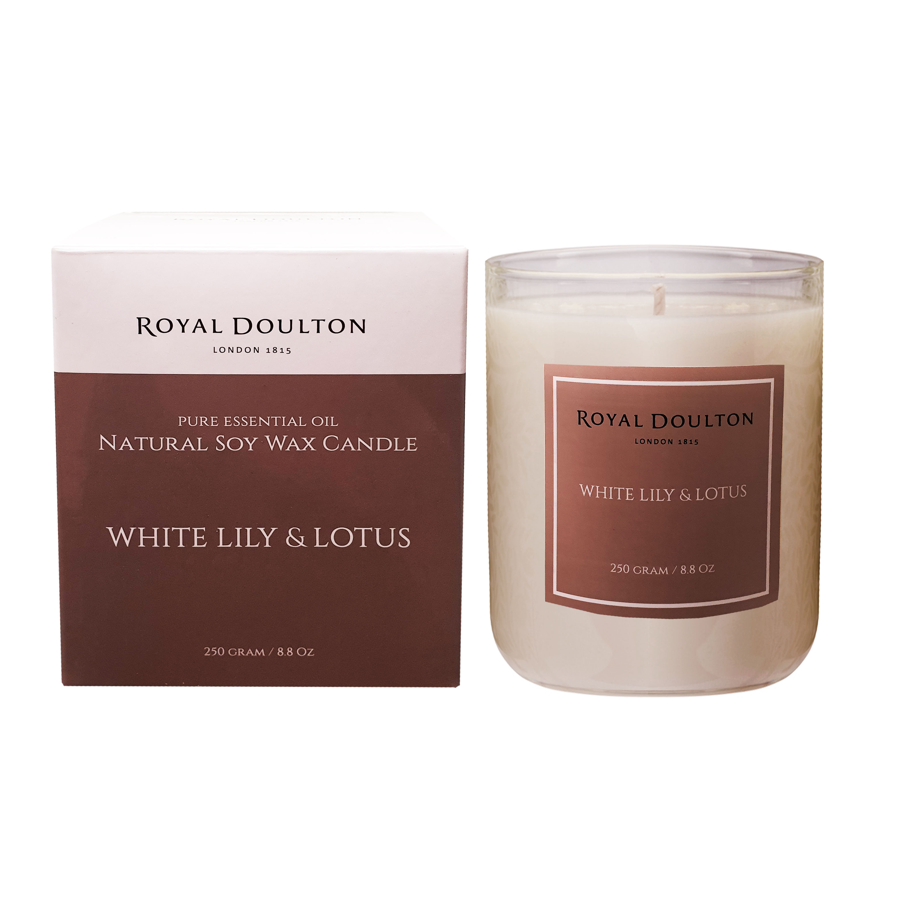 Royal Doulton White Lily & Lotus Soy Wax Candle