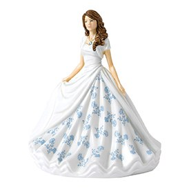 Royal Doulton Birthstone Petites March - Aquamarine HN 5899