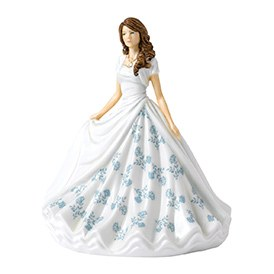 Royal Doulton Birthstone Petites June - Pearl HN 5902