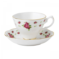 Royal Albert New Country Roses White Vintage Teacup & Saucer